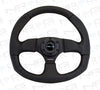 NRG 320mm Leather Steering Wheel with Black Stitch RST-009R