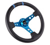 NRG RST-016R-NB: Limited Edition 350mm Sport Steering Wheel New Blue w /blue double center markings - Drive NRG