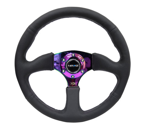 NRG RST-023MC-R: 350mm Sport Steering Wheel 2.5'' Deep Dish Neochrome Center