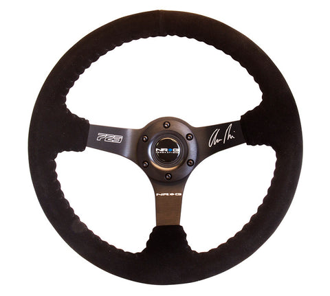 "NRG RST-036MB-S: 350mm ""ODI"" Aurimas Bakchis Signature Suede Steering Wheel"