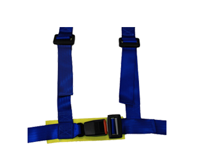 NRG SBH-100BL: 4 Point 2 Inch Harness Seat Belt- Blue - Drive NRG