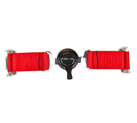 NRG SBH-4PCRD: 4 Point Seat Belt Harness / Cam Lock - Red