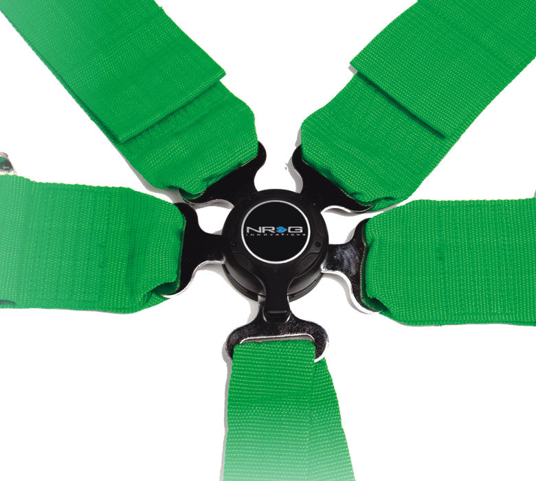 NRG SBH-6PCGN: 6 Point Seat Belt Harness / Cam Lock - Green - Drive NRG