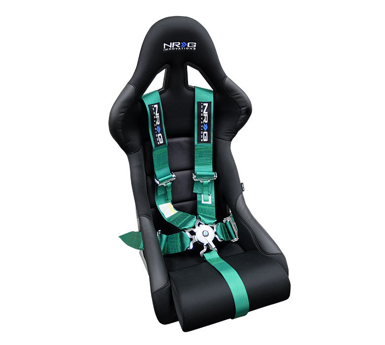 NRG SBH-R6PCGN: 5 Point Seat Belt Harness / Cam Lock - Green - Drive NRG