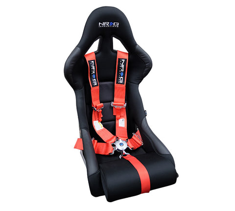 NRG SBH-R6PCRD: 5 Point Seat Belt Harness / Cam Lock - Red