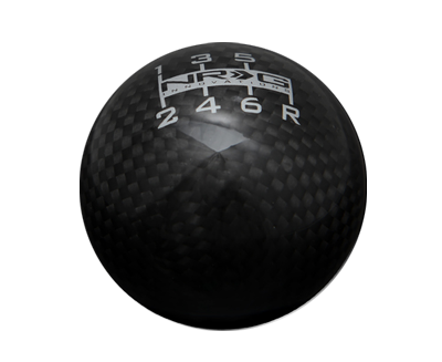 NRG SK-300BC-1: 6 Speed Ball Style Black Carbon Fiber Shift Knob
