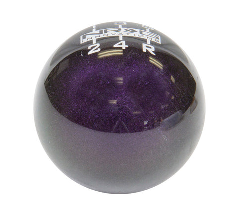 NRG SK-300GP-1-W: 6 Speed Ball Style Green/Purple Heavy Weight Shift Knob