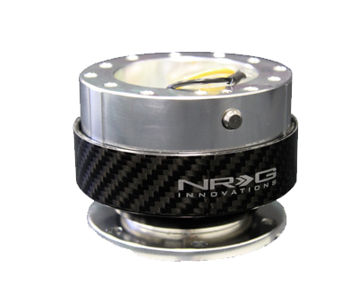 NRG Quick Release Gen 2.0 (Silver Body w/ Silver Carbon Fiber Ring) SRK-200SC - Drive NRG