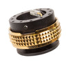 NRG Quick Release Gen 2.1 (Black Body w/ Chrome Gold Diamond Ring) SRK-210BK-CG - Drive NRG