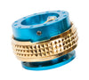 NRG Quick Release Gen 2.1 (New Blue Body w/ Chrome Gold Diamond Ring) SRK-210NB-CG - Drive NRG