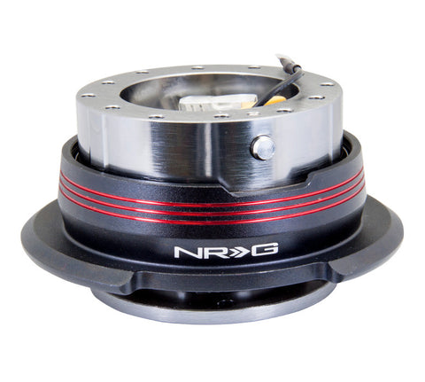 NRG Quick Release Gen 2.9 (Gun Metal Body w/ Black Red Gold Ring) SRK-290GM-BK/RD