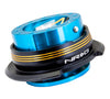 NRG Quick Release Gen 2.9 (New Blue Body w/ Black Chrome Gold Ring) SRK-290NB-BK/CG - Drive NRG