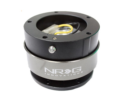 NRG Quick Release Black/Black Ring (6 Hole Base, 5 Hole Top) SRK-330BK - Drive NRG