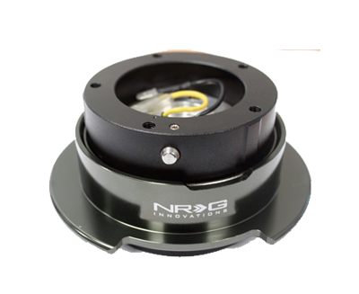 NRG Quick Release Gen 2.5 Black/Black Chrome Ring (5hole) SRK-350BC - Drive NRG