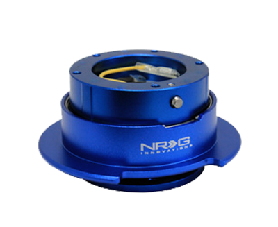 NRG Quick Release Gen 2.5 (Blue Body w/ Titanium Chrome Ring (5 hole)) SRK-350BL - Drive NRG