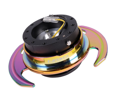 NRG Quick Release Gen 3.0 (Black Body w/ Neochrome Ring) SRK-650BK-MC