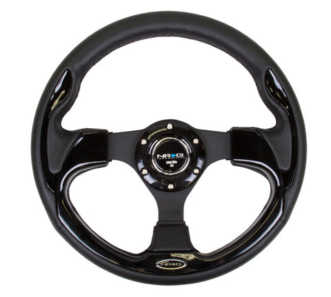 NRG RST-001BK: 320mm Sport Steering Wheel with Black Inserts
