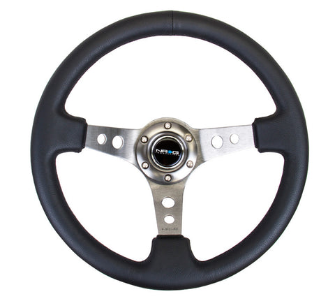 "NRG RST-006GM: 350mm Sport Steering Wheel 3"" Deep Dish Gunmetal"