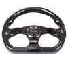 NRG ST-009CF/BK: 320mm Flat Bottom Carbon Fiber Black Steering Wheel - Drive NRG