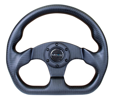 NRG ST-009CF/MB: 320mm Matte Black Carbon Fiber Steering Wheel