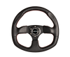 NRG 320mm Race Style Leather Steering Wheel Red Stitching RST-009R-RS