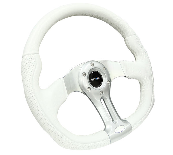 Nrg St 013wt 350mm Storm Trooper Sport White Leather With White