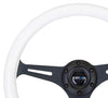 NRG ST-015BK-GL/PP: Classic Luminor White Wood Grain Wheel Black Spoke Purple Glow - Drive NRG