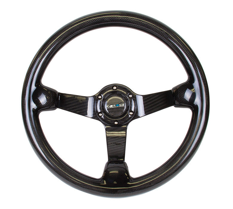 NRG 350mm Carbon Fiber Steering Wheel Deep Dish ST-036CF
