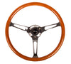 NRG RST-360SL: 360mm Classic Wood Grain Wheel- 3 spoke center in chrome