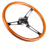 NRG RST-360SL: 360mm Classic Wood Grain Wheel- 3 spoke center in chrome - Drive NRG