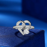 Love Heart Shape Rings Women