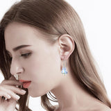 Baroque Crystal Dangle Earrings