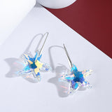 Aurora Borealis Starfish Crystal Drop Earrings