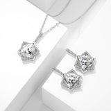 Hexagram Jewelry Set & White Crystal