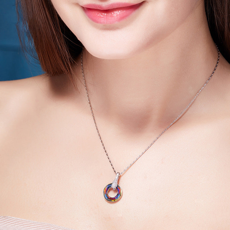 Volcano Crystal Necklace Women