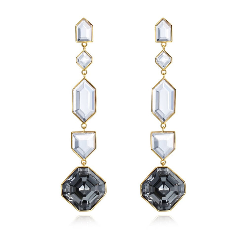 Luxury Black Hole Crystal Earrings