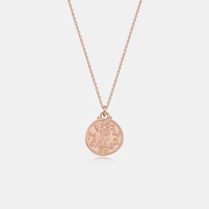 MAMA DOUBLE OWL GOLD COIN NECKLACE