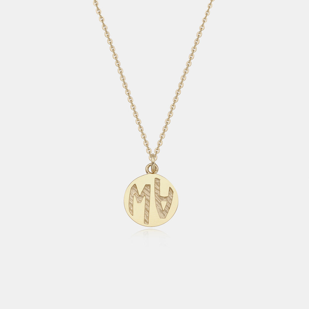 V2 SMALL GOLD COIN NECKLACE