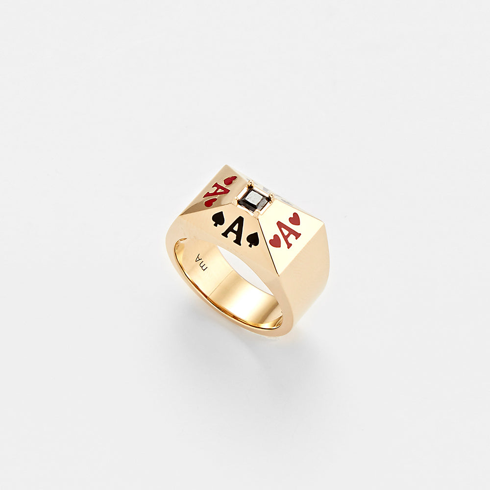 PLAYCARD SILVER RING