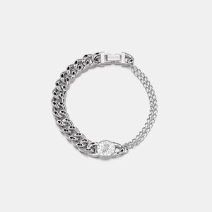 NO.5 HOLLOW COIN ANKLET - WHITE