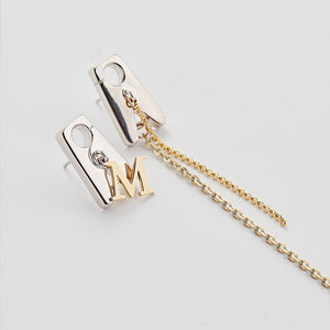 TONGS SERIF DYNAMIC LARGE EARRINGS