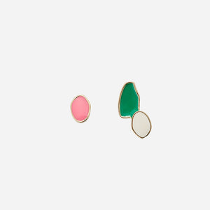 UNIQUE COLOR PEBBLE UNBALANCED EARRINGS