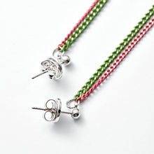 Load image into Gallery viewer, COLORING MIX DOUBLE-LINE CHAIN EARRINGS