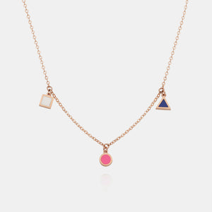 14K VIVID FORMICA NECKLACE