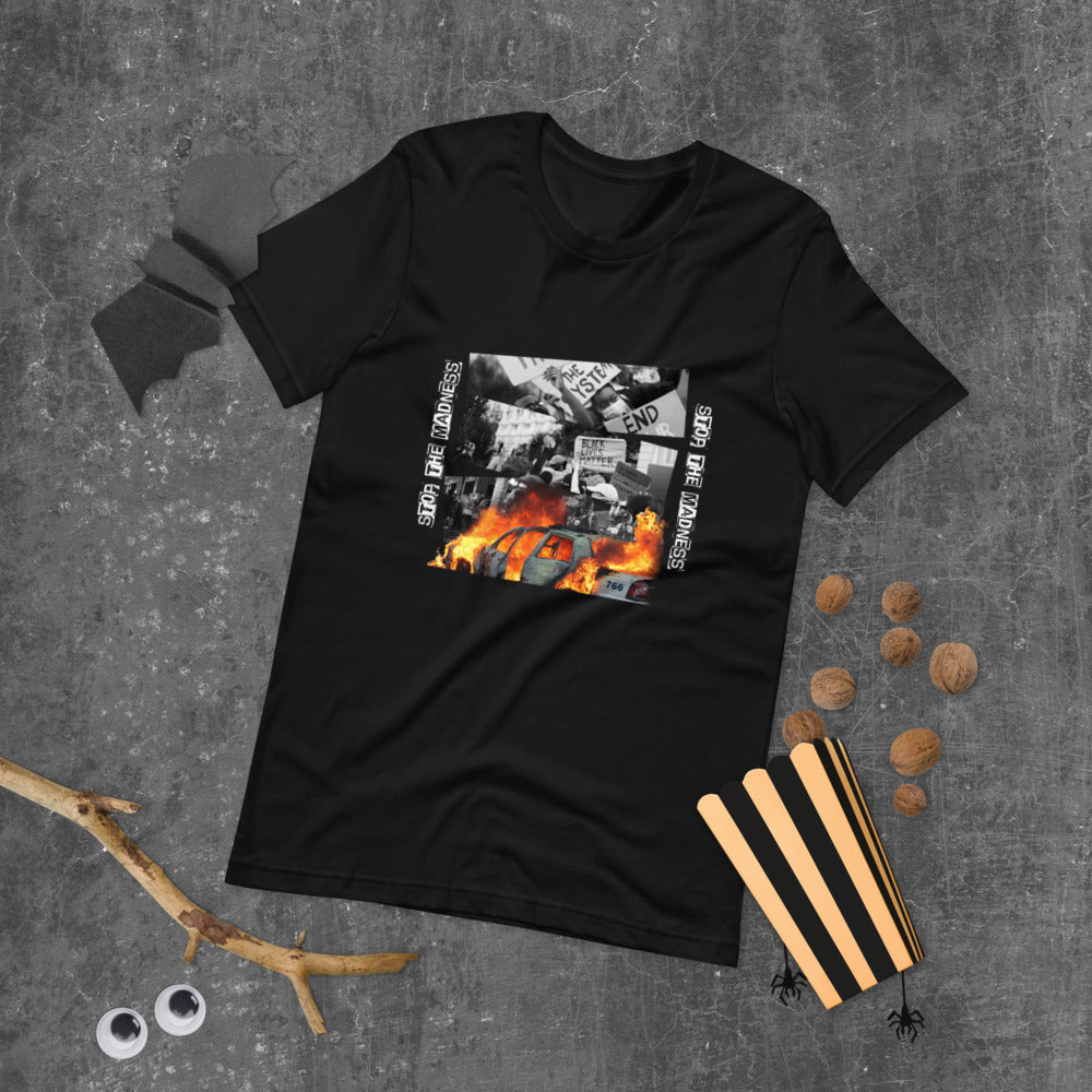 'Stop The Madness' Short-Sleeve T-Shirt - Crumbs to Cake