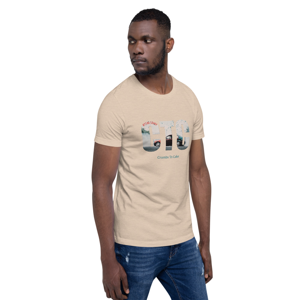 '#TSNLSDMV x Crumbs To Cake' Short-Sleeve Men's T-Shirt - Crumbs to Cake