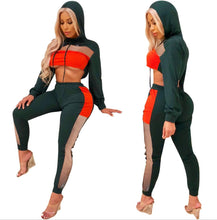 Load image into Gallery viewer, women's net mosaics sports suit