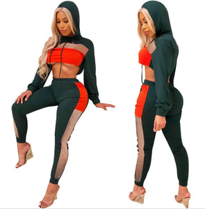 women's net mosaics sports suit