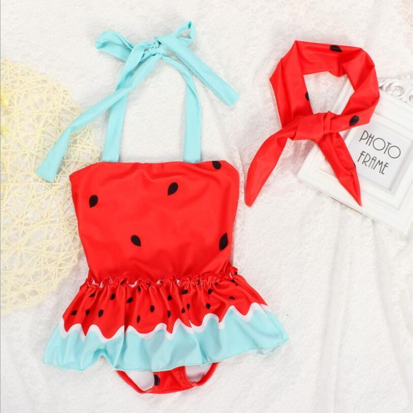 Cute Baby Girl One Piece Watermelon Swimsuit