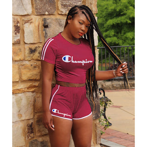 Champion Letter Printed 2 Piece Set